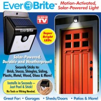 Ever Brite Motion-activated Solar-powered LED Exterior House Light