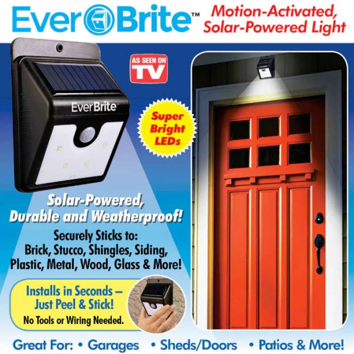 Brite Motion Activated Solar Powered Led Exterior House Light  sc 1 st  Outdoor Lighting & Everbrite Motion Activated Outdoor Led Light Reviews - Outdoor Lighting
