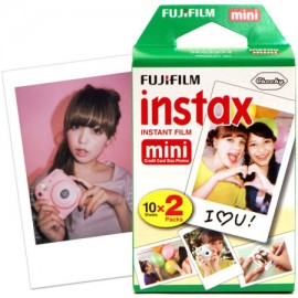 Fujifilm Instax Mini Instant Twin Pack White Film Sheets Credit Card Size Photos