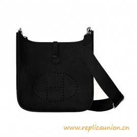 Top Quality Taurillon Clemence Leather Evelyn Shoulder Bag