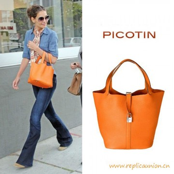 Top Quality Picotin Imported Togo Leather Bag
