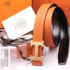 Top Quality Original Clemence Leather Belt with H Buckl No 18k Logo