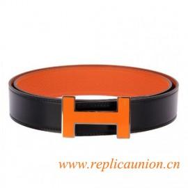 Originale qualità Costanza Cinture Laccato Arancione Fibbia con bordo argento
