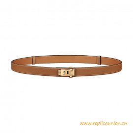 Top Quality CDC 24 Leather Belt in Madame Calfskin