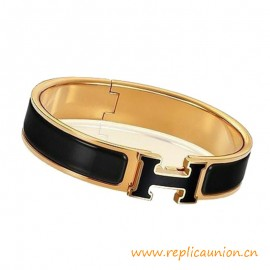 Top Quality Clic H Narrow Enamel Bracelet with Laquered H Bracelets