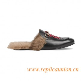 Original Princetown Leather Slippers with Snake Emerges as One of Alessandro