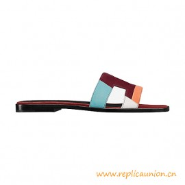 Top Quality Suede Goatskin Sandals with Leather Lining Brun Acajou