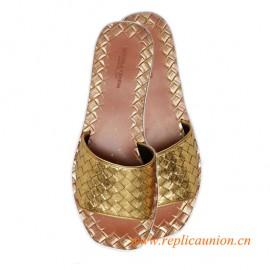 Original Design Quality Signature Intrecciato Calfskin Leather Sandals