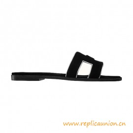 Top Quality Oran Sandal in Velvet and Nappa Leather with Metallic Finish
