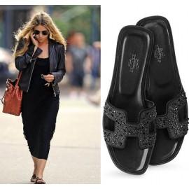Top Quality Original Design Oran Rhinestone-studded Flat Sandals