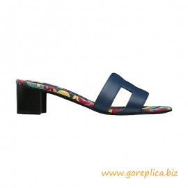 Top Quality Oasis Sandals in Calfskin with H Cut-out