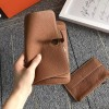 Top Quality Dogon Duo Wallet in Togo Calfskin with Lambskin Lining