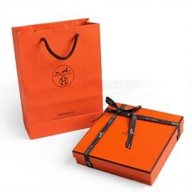 Original Design Quality H Buckle Belt Orange Box