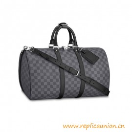 Top Quality Keepall Bandoulière Damier Graphite Canvas