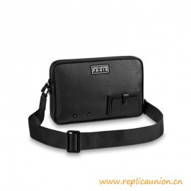 Top Quality Alpha Messenger Taurillon Metal Leather