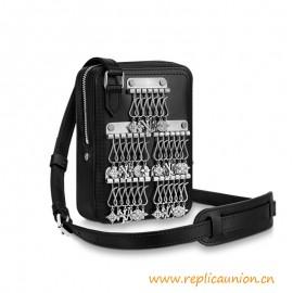 Top Quality Danube Messenger Black Calf Leather