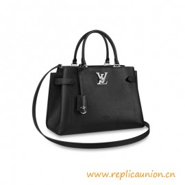 Top Quality Lockme Day Tote Bag in Grained Calf Leather
