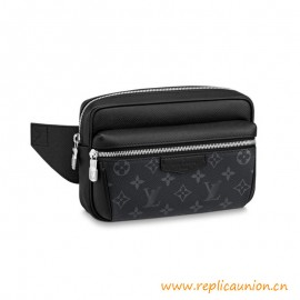 Top Quality Outdoor Bumbag Taiga Cowhide Leather