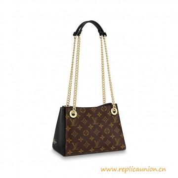 Top Quality Surene BB Grained Leather Handbag in Monogram Canvas