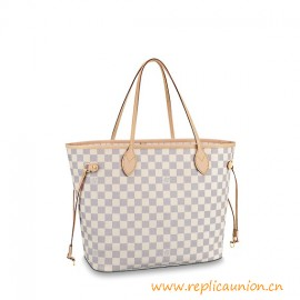 Top Quality Legendary Neverfull Damier Azur Canvas MM City Bag