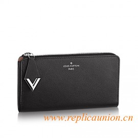 Original Comete Wallet in Subtly Grained Veau Cachemire Leather Wallet