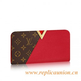 Original Kimono Wallet Combines iconic Monogram canvas and Colourful Calf Leather