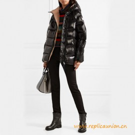 Top Quality Liriope Glossed-shell Down Hooded Jacket