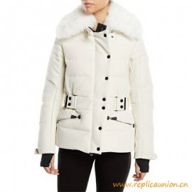Top Quality Down Jackets with Genuine Fox Fur Trim