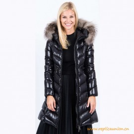 Top Quality Black Down And Fur Fulmarus Coat