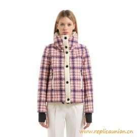 Top Quality Flaine Houndstooth Printed Down Ski Jacket