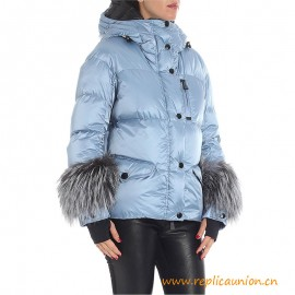Top Quality Light Blue Polyamide Limides Down Jacket