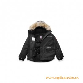 Top Quality Lynx Parka for Kids Natural Wild Wolf Fur
