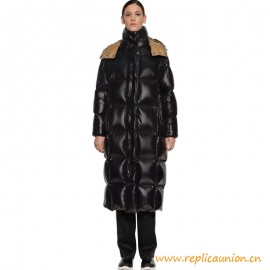 Top Quality Parnaiba Long Quilted Down Puffer Coat In Black