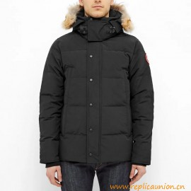 Top Quality Wyndham Parka with Wolf Fur for Men