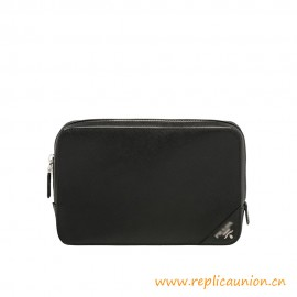 Top Quality Saffiano Leather Case Polished Steel-finish Hardware