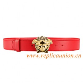 Original Design Palazzo Calf Leather Belt Finished with The Iconic Medusa Head