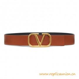 Top Quality Garavani Cowhide V Belt with V Buckle