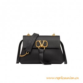 Top Quality VRING Grainy Calfskin Crossbody Chain Bag