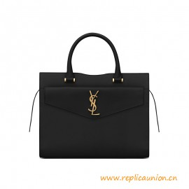 Top Quality UPTOWN Medium Tote in Shiny Smooth Leather